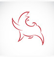 red pig design on white background farm animal vector image