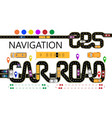 roads cars navigator tags the highway is vector image vector image