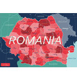 romania country detailed editable map vector image vector image