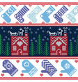 Scandinavian Nordic Christmas seamless pattern wit vector image vector image