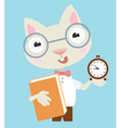Scientist cat vector image vector image