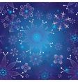 Seamless dark blue gradient christmas pattern vector image vector image