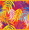 seamless repeating palm leaf background vector image vector image