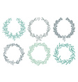 Set of winter wreaths vector image vector image