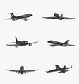set symbols passenger airplane vector image vector image