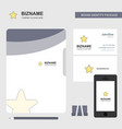 star business logo file cover visiting card and vector image vector image