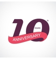 Template Logo 10th Anniversary vector image