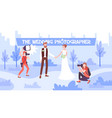 wedding photographer vector image vector image