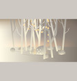 white paper forest and small house vector image vector image