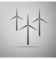 Wind generator icon vector image vector image