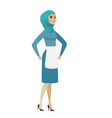 young muslim angry cleaner screaming vector image vector image