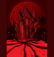hell castle vector image