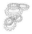 3d gears vector image vector image