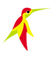 a flying colorful hummingbird or colibri vector image vector image