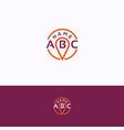 abc logo vector image vector image