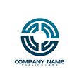 abstract logo for business company vector image vector image
