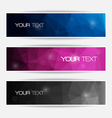 Abstract polygonal banners set vector image vector image