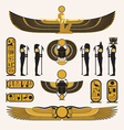 Ancient Egyptian symbols and decorations vector image