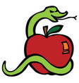 apple serpent vector image vector image