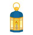 arabian lantern for ramadan icon flat style vector image vector image