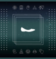 ballerina flats - women shoe the silhouette vector image