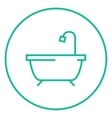 Bathtub with shower line icon vector image vector image