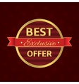 Best offer label vector image vector image