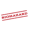 Biohazard Watermark Stamp vector image vector image