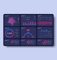 bright modern infographic with data and charts vector image vector image