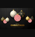 candy christmas card merry christmas sweet vector image