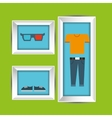 clothes and frame design vector image vector image