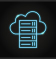 cloud hosting icon in neon line style vector image