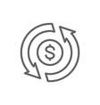 currency exchange money transfer convert quick vector image