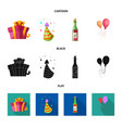 design of party and birthday sign set of vector image