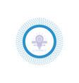 development idea bulb pencil scale glyph icon vector image vector image