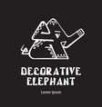 elephant decorative - emblem design logo vector image