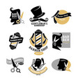 exclusive gentlemans barbershop stylish isolated vector image vector image