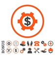 Financial Settings Flat Rounded Icon With vector image vector image