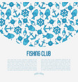 fishing club concept with fish bobber vector image vector image