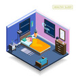 full sleep isometric composition vector image vector image