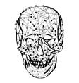 Funny skeleton skull vector image