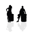 girl and man silhouette part two vector image
