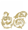 Golden Classic ornament element vector image