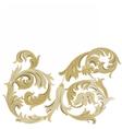 Golden Classic ornament element vector image