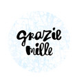 grazie mille hand lettering phrase vector image vector image