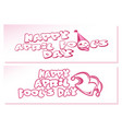 happy april fools day set banners for april first vector image