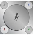 High voltage Icon vector image vector image