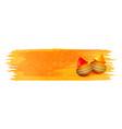 holi gulal powder color on yellow watercolor vector image vector image