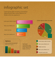 infographic set on brown paper vector image vector image
