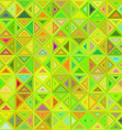 Lime color abstract triangle mosaic background vector image vector image